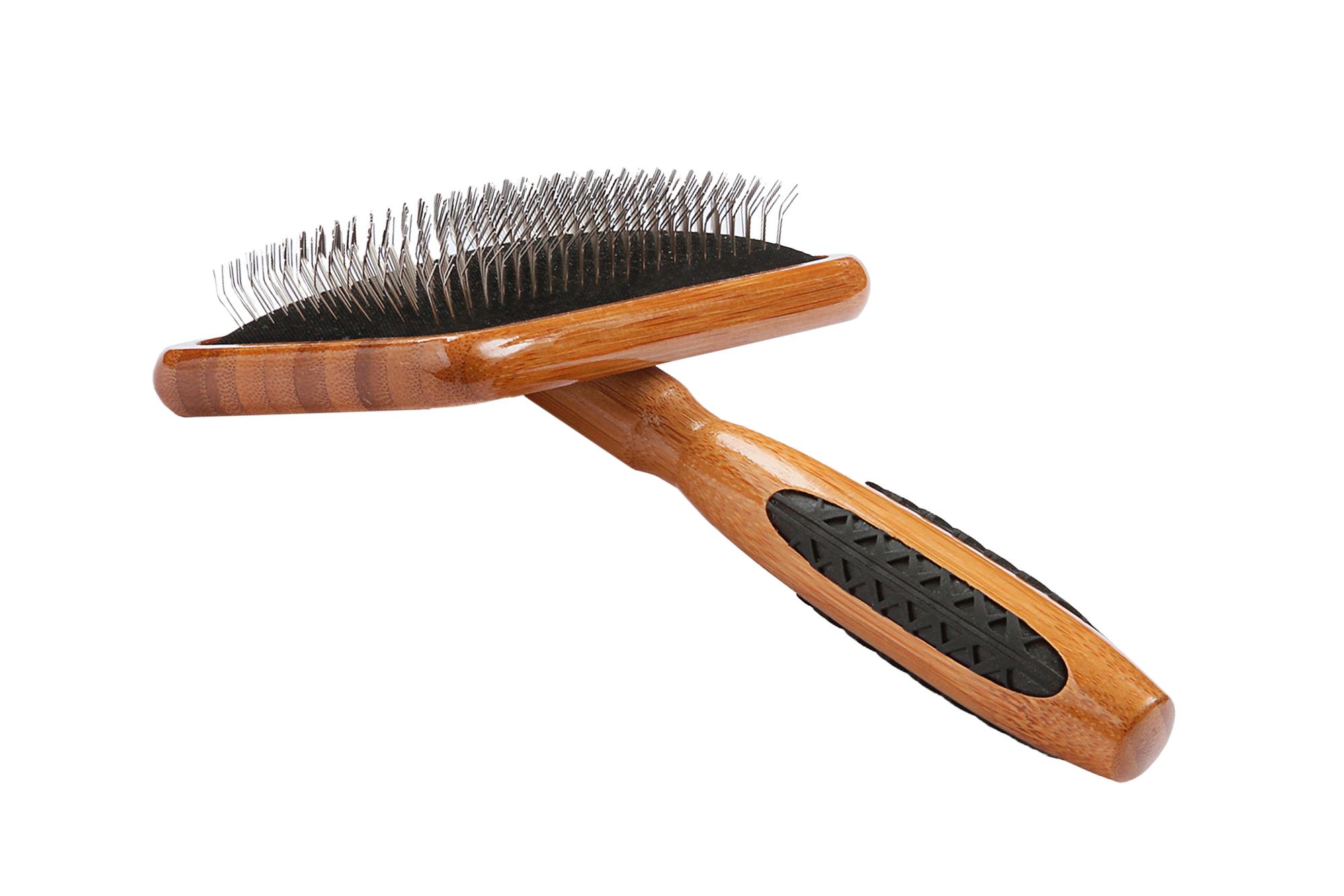 A19 Bamboo Alloy Pin Slicker Brush 3