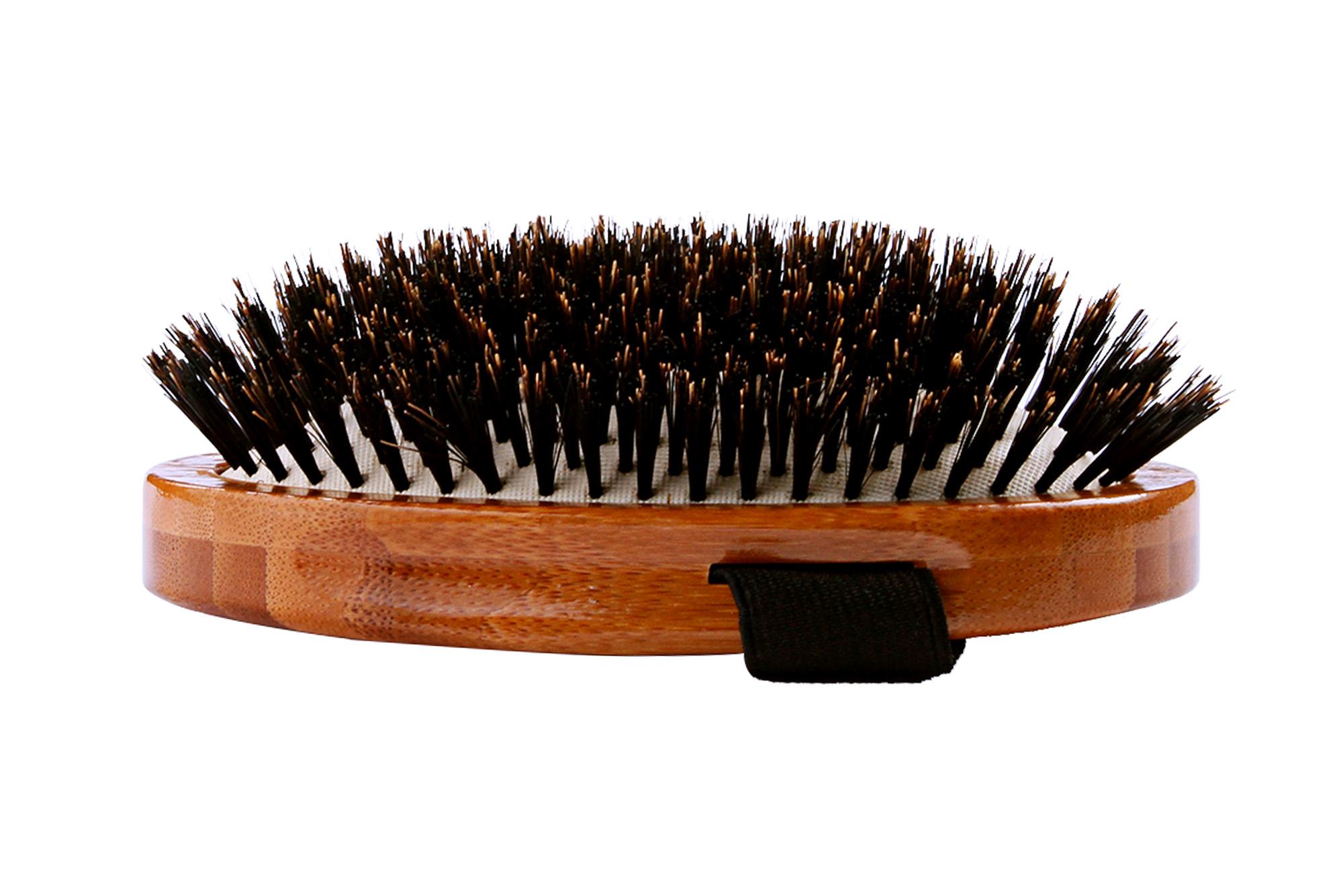 A2 Bamboo Natural Boar Bristle Palm Brush 2