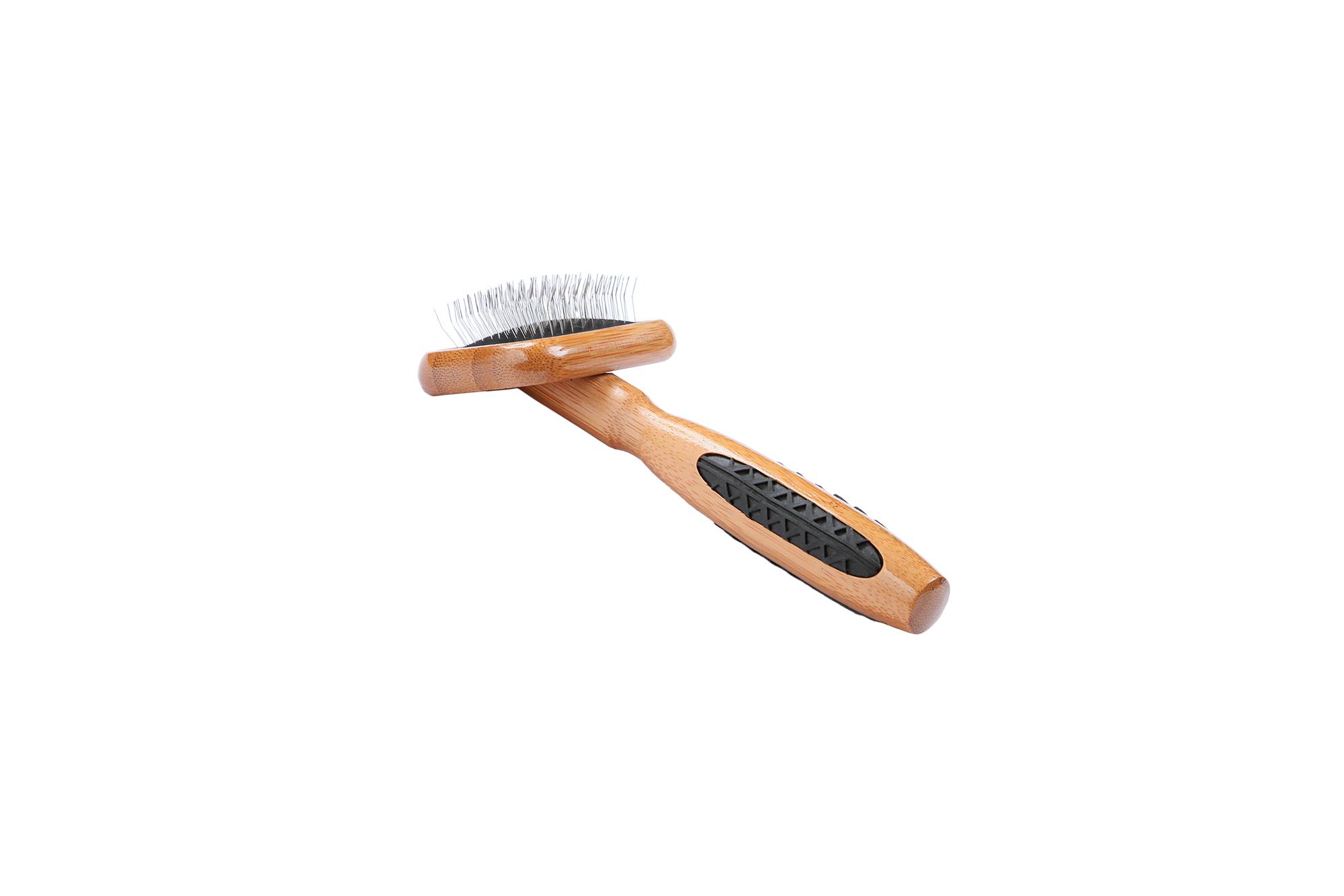 A27 Bamboo Alloy Pin Slicker Brush 3